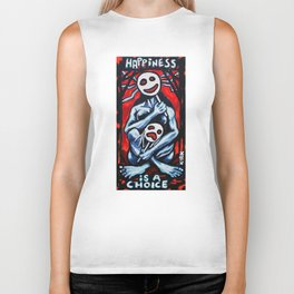 'Happiness Is A Choice' Biker Tank