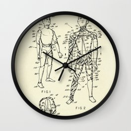 Toy Figure Having Movable Joints-1966 Wall Clock