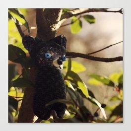 woodland spirit - cat Canvas Print