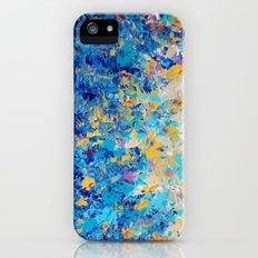 HYPNOTIC BLUE SUNSET - Simply Beautiful Royal Blue Navy Turquoise Aqua Sunrise Abstract Nature Decor Slim Case iPhone (5, 5s)