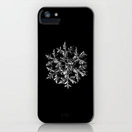 Snowflake vector - Gardeners dream black iPhone Case