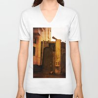 gumball V-neck T-shirts featuring Gumball Machine Grunge by Fine2art