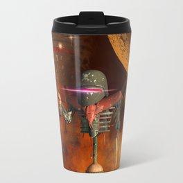 Funny robot Travel Mug