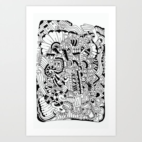 What hides a caress Art Print