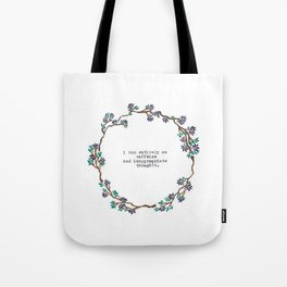 Caffeine and Inappropriate Thought Tote Bag