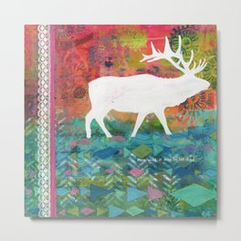 How Wild It Was Elk Collage Metal Print