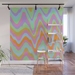 Psychedelic Dripping Wall Mural