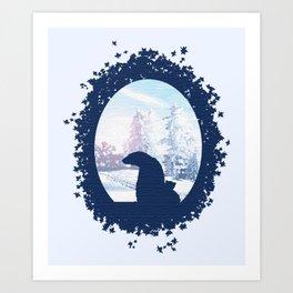 Polar Brrr Art Print