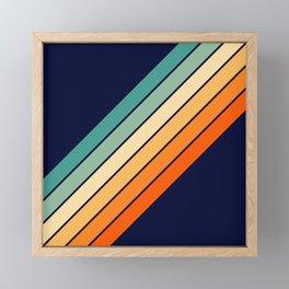 Farida - 70s Vintage Style Retro Stripes Framed Mini Art Print