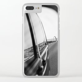 Looking backwards Clear iPhone Case