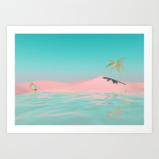 Palm Tree Oasis Art Print