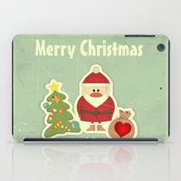 merry christmas iPad Cases featuring Merry Christmas by Cs025