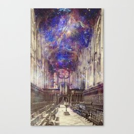 Someone's Playing the Organ, King's College Chapel Canvas Print
