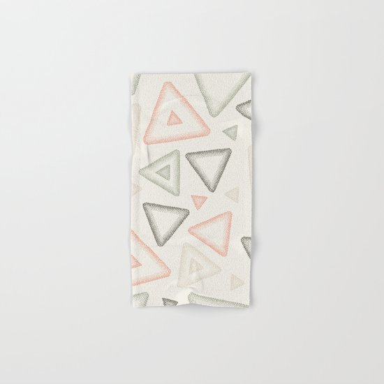 Retro Dotted Pattern 01 Hand & Bath Towel