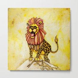 A lion with giraffe costume Metal Print