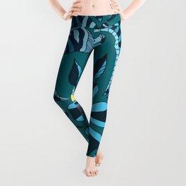 Floral Turquoise  Leggings