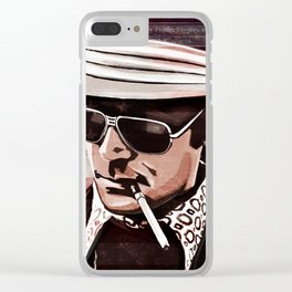 Hunter S Thompson Clear iPhone Case