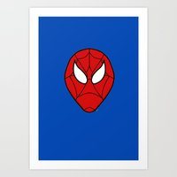 spider man Art Prints featuring Spider.  Man.   by Designs By Misty Blue (Misty Lemons)