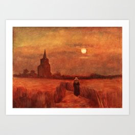 The Old Tower in the Fields by Vincent van Gogh Art Print