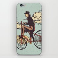fly iPhone & iPod Skins featuring Steam FLY by Diego Verhagen