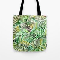 tropical Tote Bags featuring Tropical Green by Cat Coquillette
