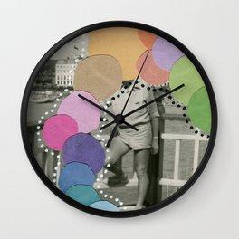 Rainbow Blob Wall Clock