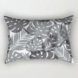 Tropical Shadows - White / Black Rectangular Pillow