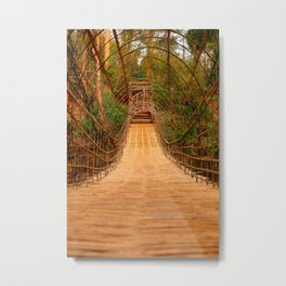 Bridge in Bolaven Plateau Metal Print
