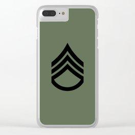 Staff Sergeant (Green) Clear iPhone Case