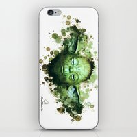 yoda iPhone & iPod Skins featuring Yoda by Rene Alberto