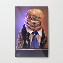 Election 2016 - Donowl Trump Metal Print