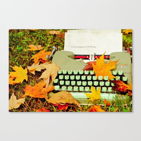 It Was a Gorgeous Autumn Day Canvas Print