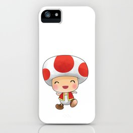 Red mushroom Plumber's collection iPhone Case