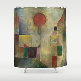 Red Balloon by Paul Klee Shower Curtain