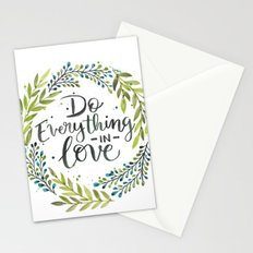Do Everything In Love Stationery Cards