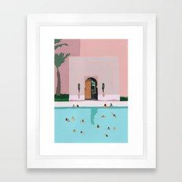 Middle Eastern Swims Framed Art Print