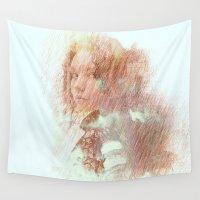 brooklyn Wall Tapestries featuring Girl of Brooklyn by Ganech joe