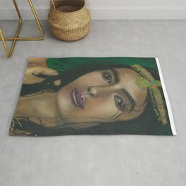 Lady in Green Rug