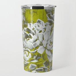 Chartreuse Green Hen and Chicks Travel Mug