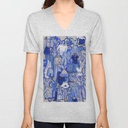 BLUE CLOTHES Unisex V-Neck