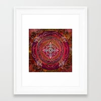 chakra Framed Art Prints featuring Root Chakra by brenda erickson