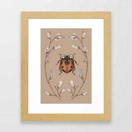 The Ladybug and Sweet Pea Framed Art Print