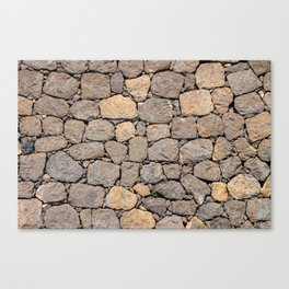 volcanic rock, background, pattern, stone, basalt, patch, maps, brown, road, paved, symmetrical Canvas Print