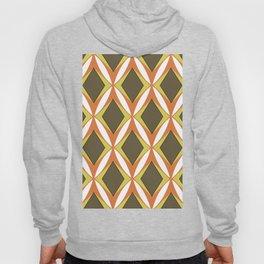 Retro 1960s Geometric Fawn Orange Pattern Hoody
