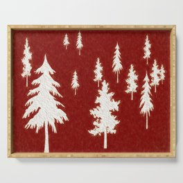 White trees Serving Tray