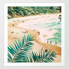 Beach Weekend #digitalart #nature Art Print