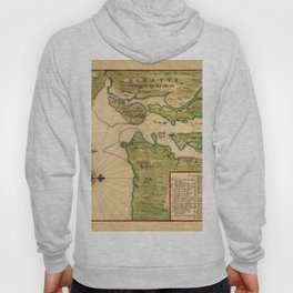 Map Of New York 1639 Hoody