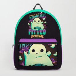 Indomitable Fitted Sheet // Funny, Halloween, Adulting Backpack