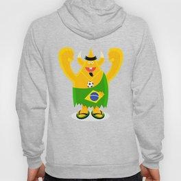 Brazilian samba mamba beach bum footy fan character Hoody