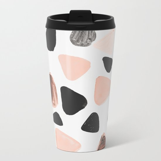 Rounded Triangles Metal Travel Mug